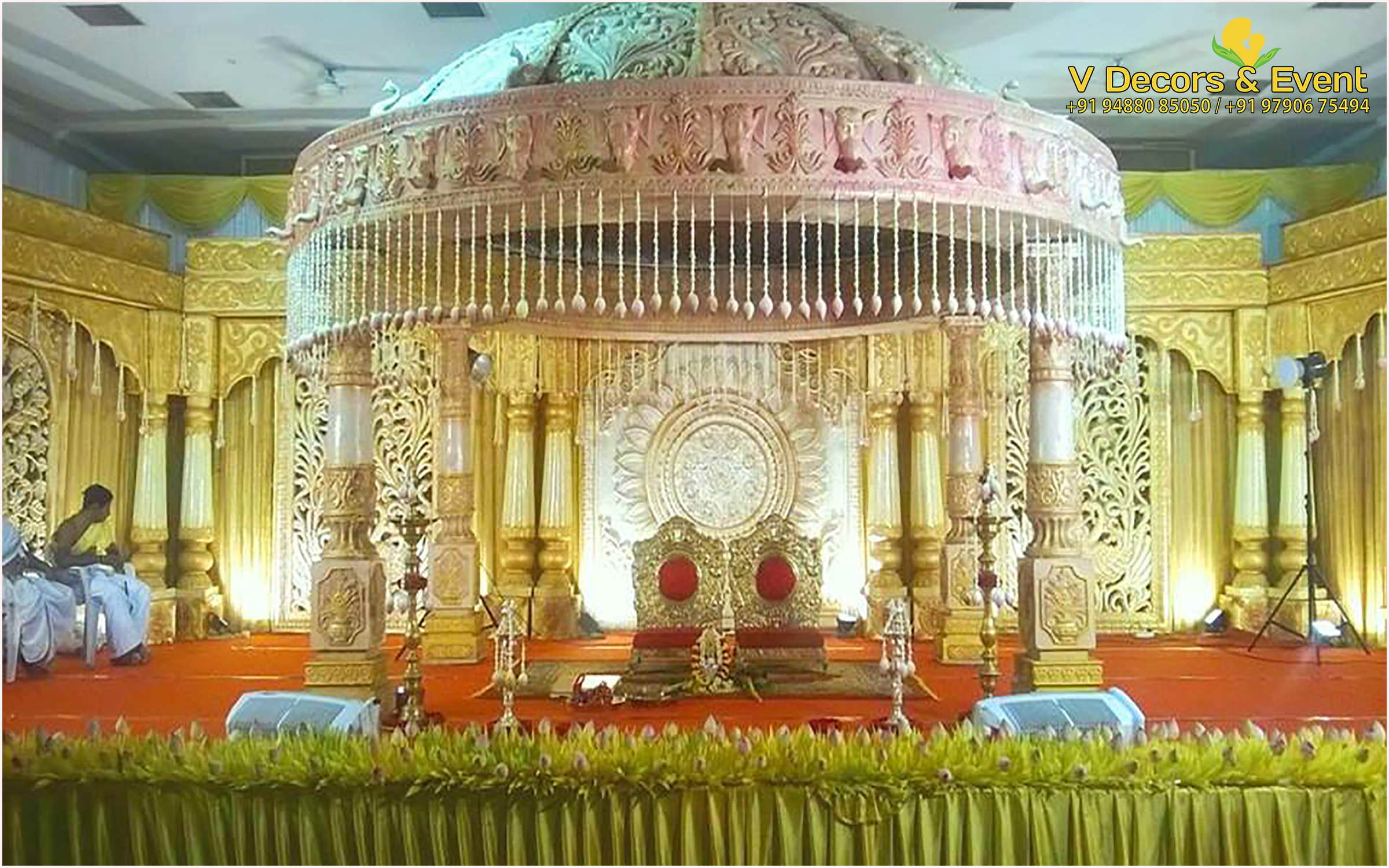 wedding stages decoration reception decorations v decors and events 9488085050 1162