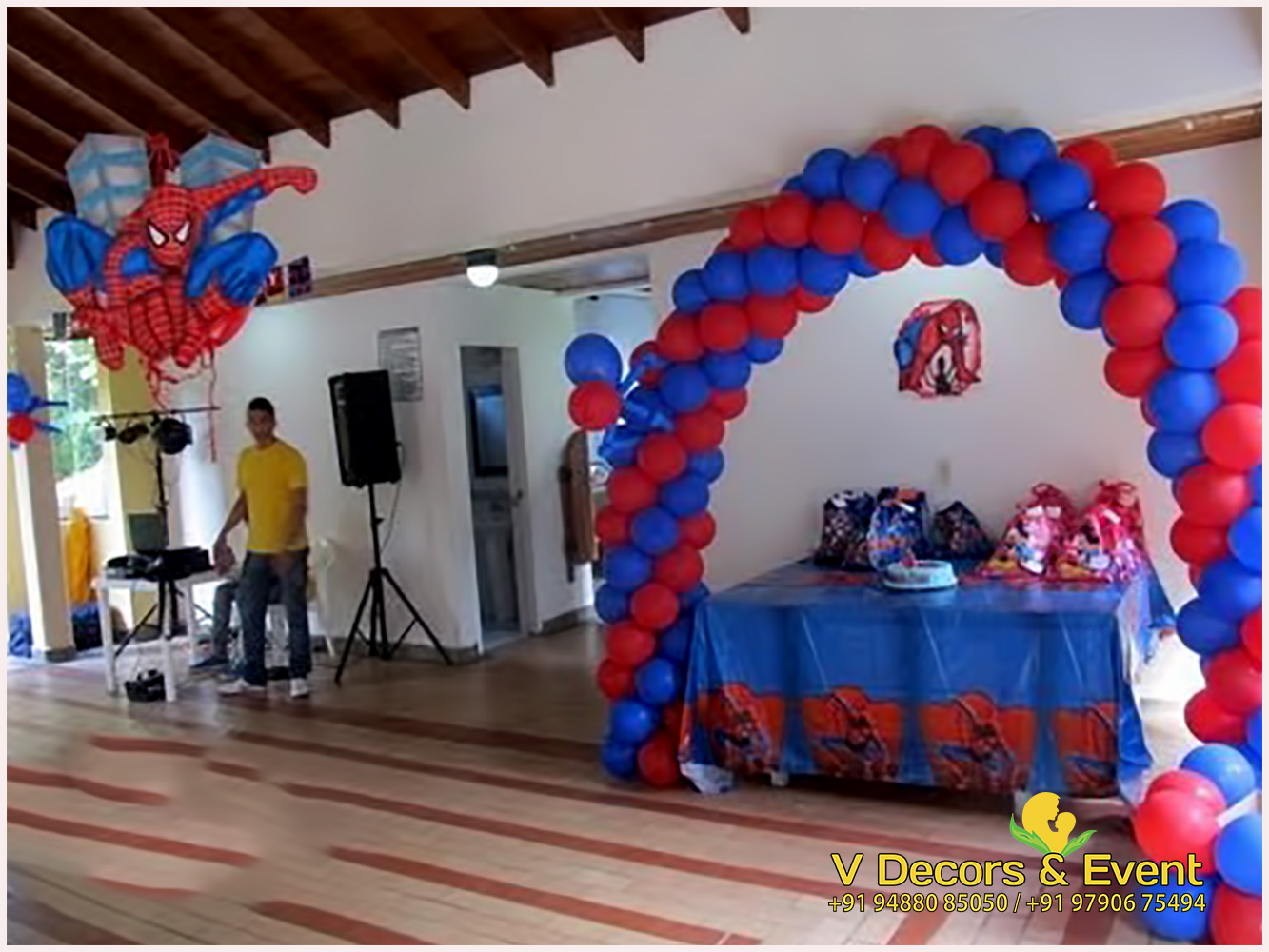 Spiderman Themed Birthday Decorations Pondicherry, Spiderman Birthday decorations pondicherry, Spiderman themed decorations Pondicherry